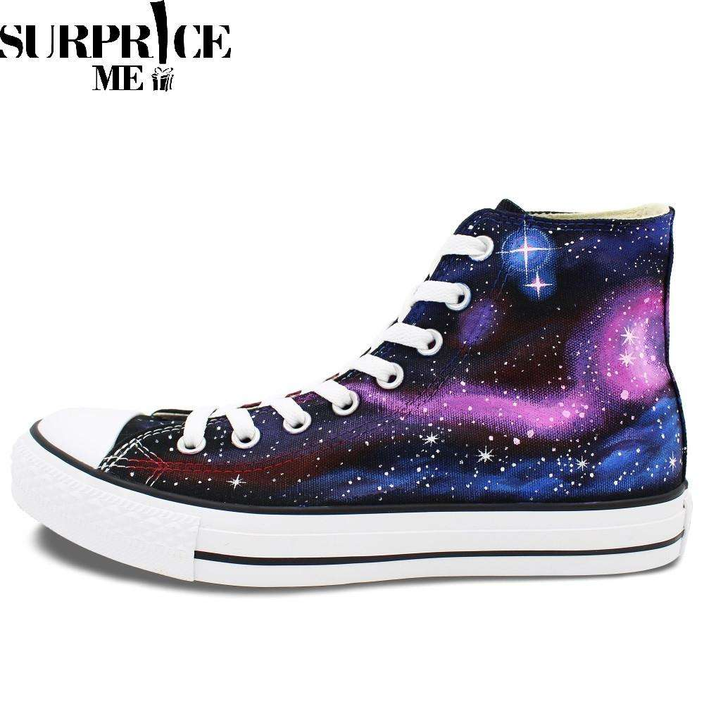 Converse Chuck Taylor All Star - Hand Painted Galaxy Of Stars Design Shoes - Surpriceme.com