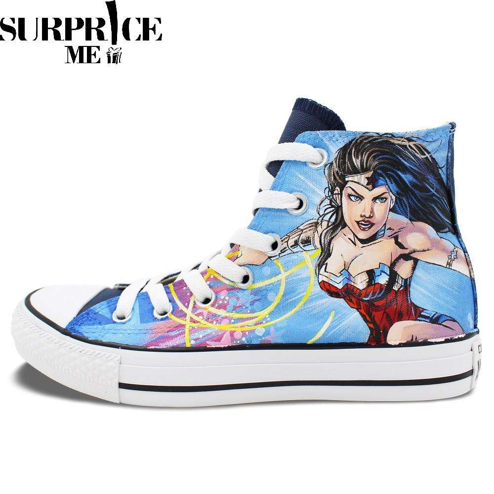 Converse Chuck Taylor All Star - Hand Painted Wonder Woman Design Shoes - Surpriceme.com