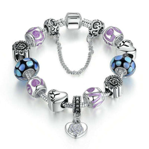 Flower Heart Charms Bracelet Set - Buy 1 FREE 1 - Surpriceme.com