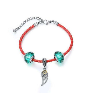 Luxury Leather Bracelet with Heart, Flower or Feather - Surpriceme.com
