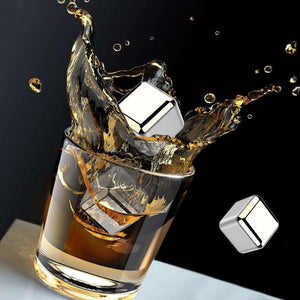 Stainless Steel Reusable Ice Cubes for Whiskey, Wine - Surpriceme.com