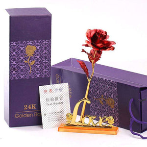 Surpriceme.com - 24K Gold Foil Rose With Gift Box - Surpriceme.com