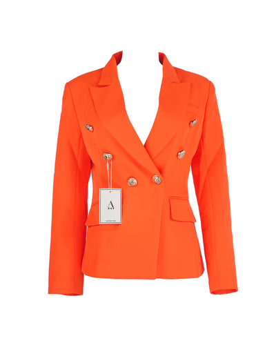 The DUBAY Blazer Orange Gold Lion Buttons by Aniiiqa
