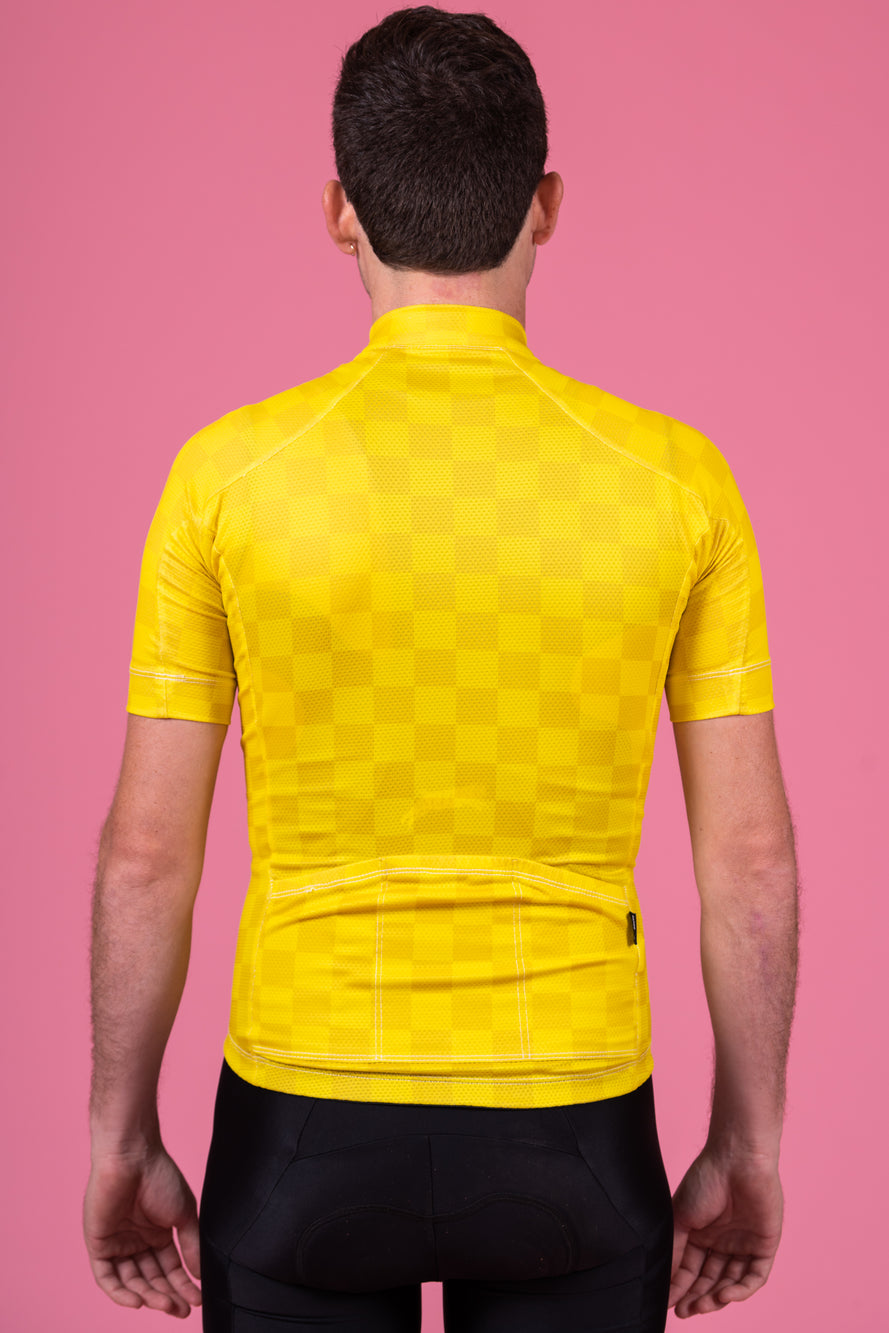 Yellow Check Staple Fit Jersey
