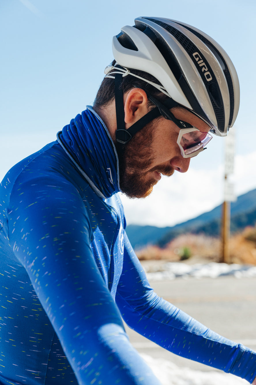 Electric Blue Dash Long Sleeve Jersey