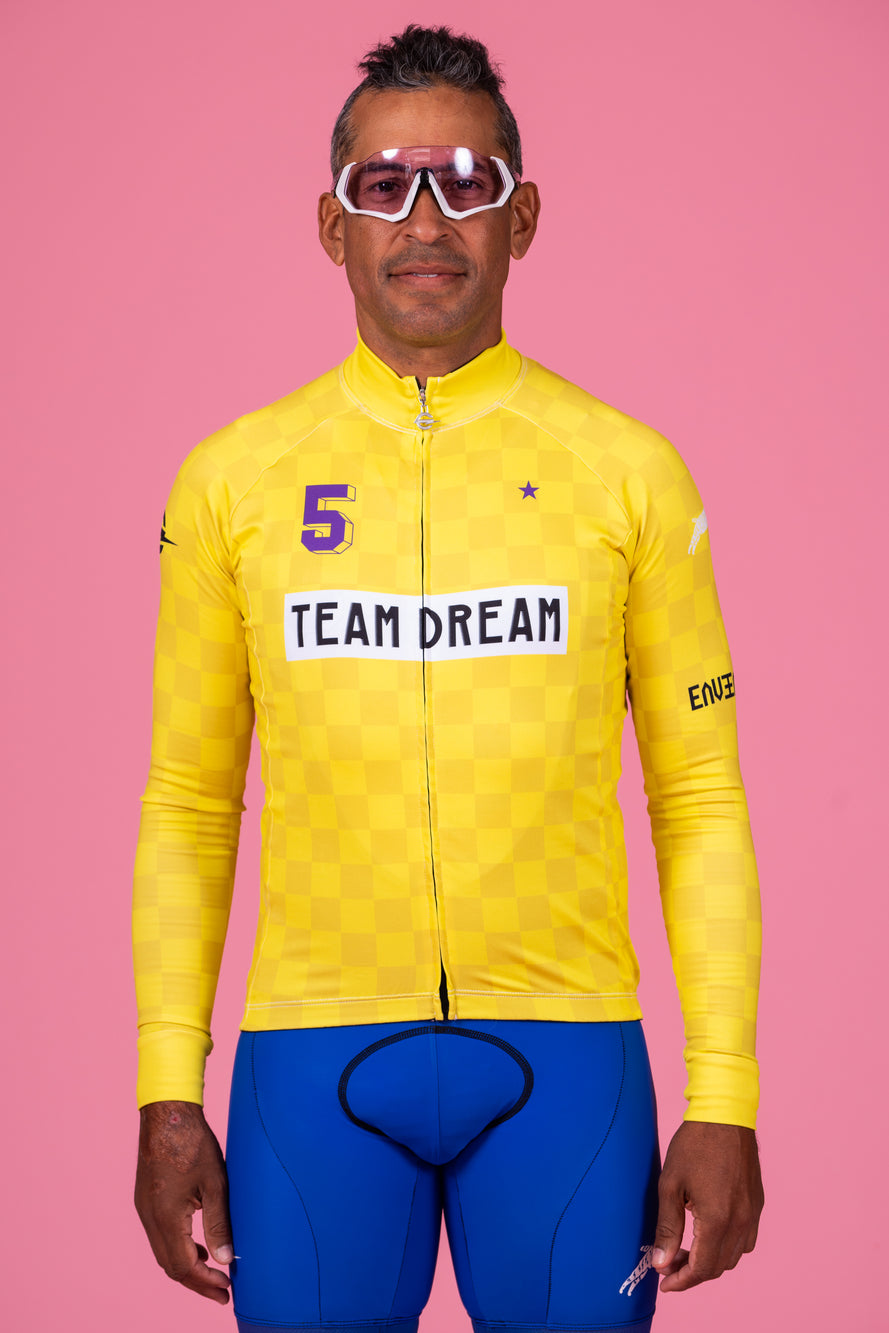 Yellow Check Long Sleeve Jersey