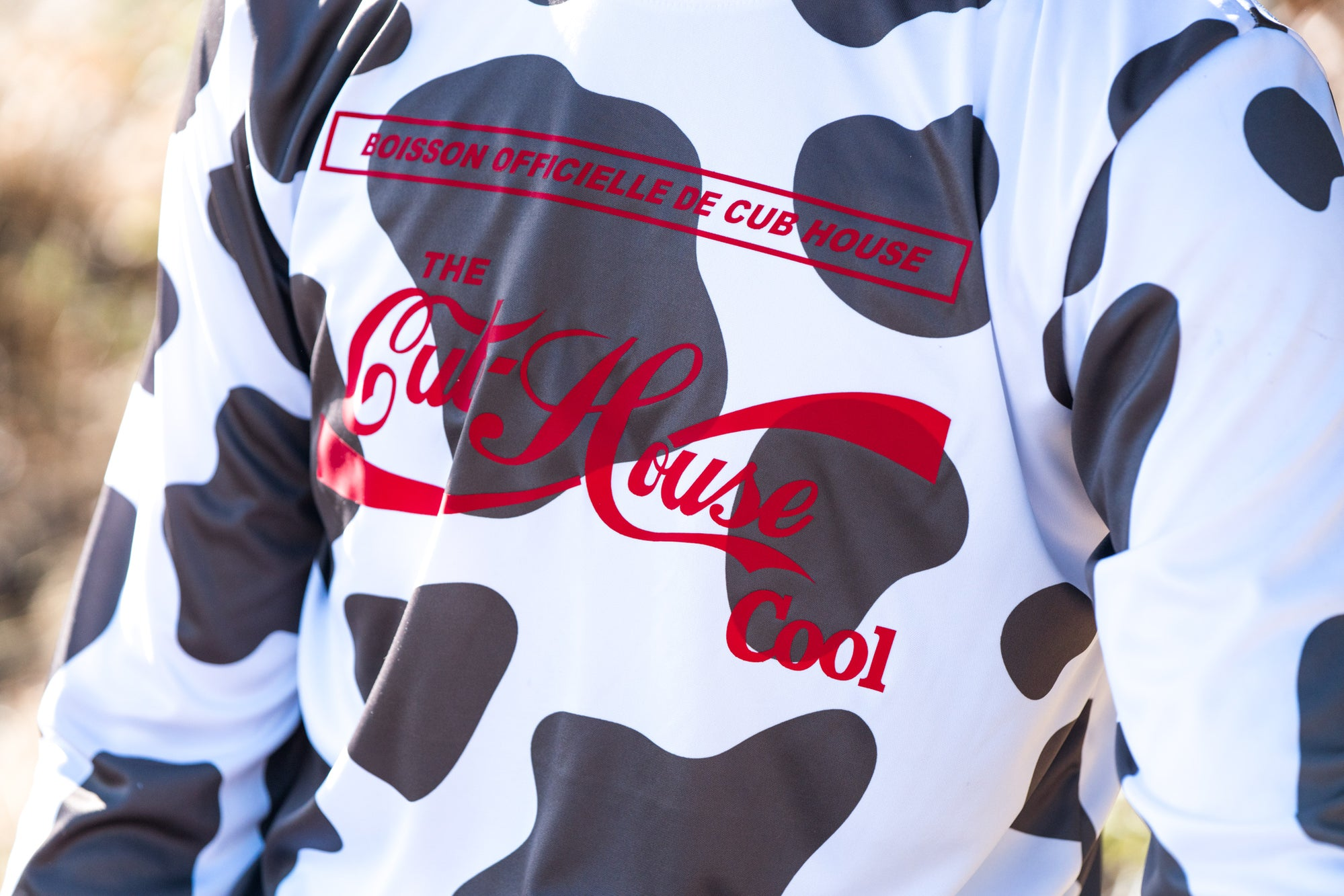 Cow Print Long Sleeve MTB Jersey