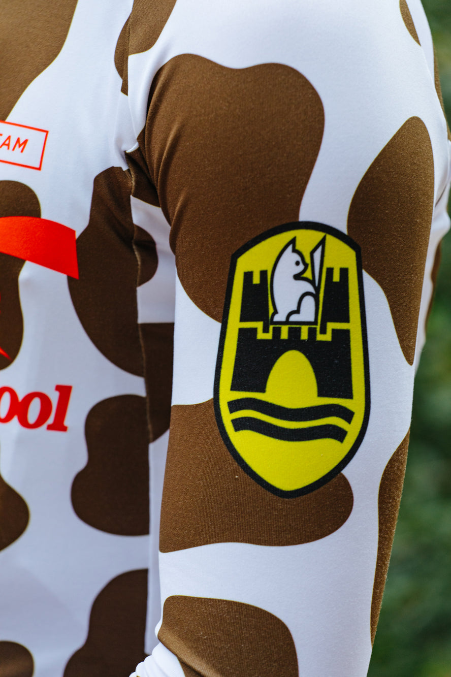 Milk Chocolate Cow Long Sleeve Jersey