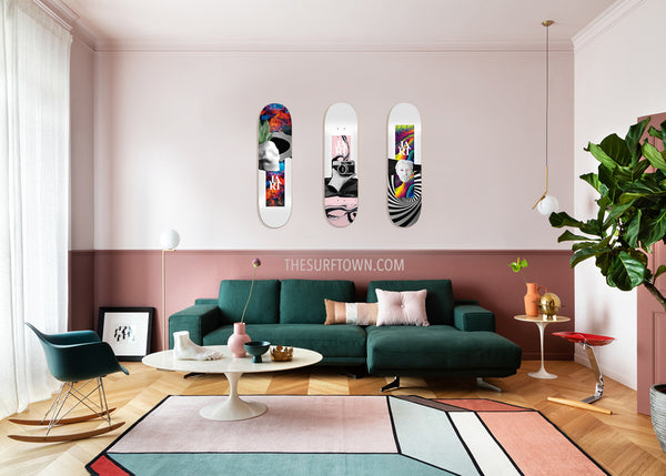 DECORA UN SALÓN CON TABLAS DE SKATE JART ABSTRACTION