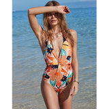 Bañador Roxy Swim the Sea Peach Bright Skies