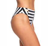 Parte de abajo Bikini Roxy Pop Surf Black Crazy Victoria Stripes