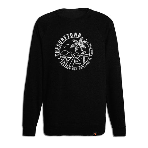 Sudadera The Surf Town Patch Crew Military Green