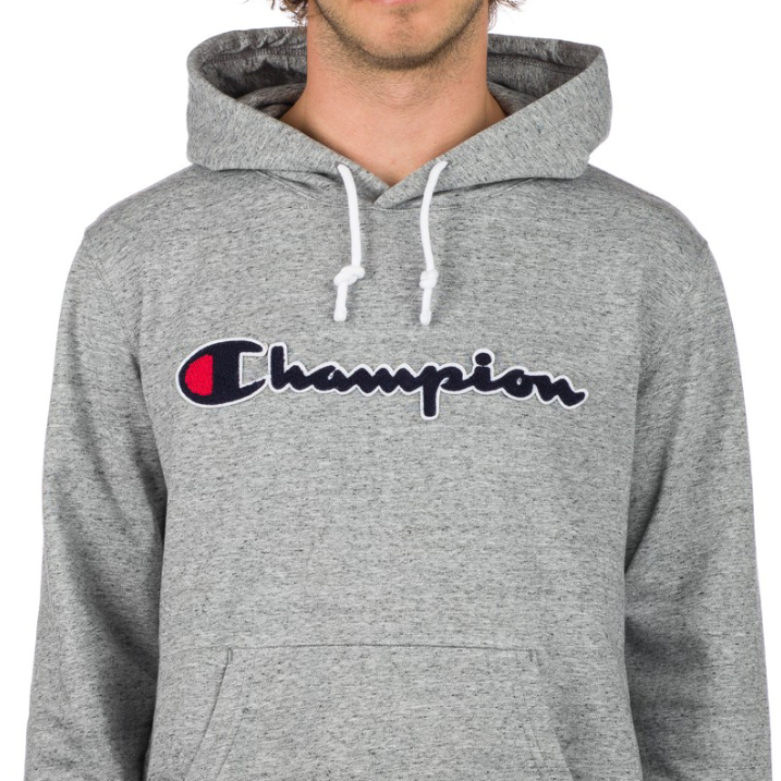 Sudadera Champion Graphic Pullover Hoodie Grey