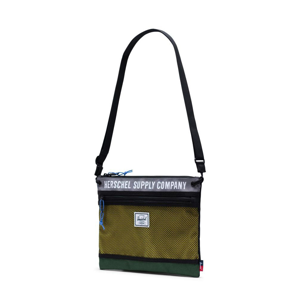 Bolso Herschel Alder Crossbody Athletics Greener Pastures Grey Cyber Yellow