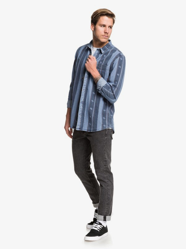 Camisa Quiksilver Buffalo Slopes Blue Used