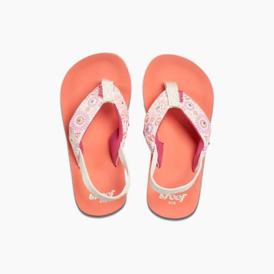 Chanclas Reef Little Ahi Lights Coral