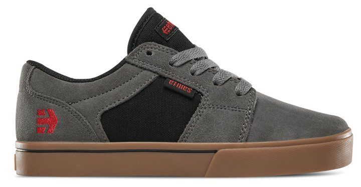 Zapatillas Etnies Barge Kids Grey/Black/Gum