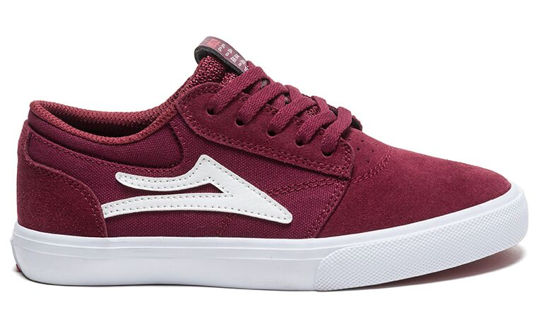 Zapatillas Lakai Griffin Kids Burgundy Suede