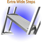 4 Step Traditional Dock or Pontoon Ladder - PontoonBoatTops.com