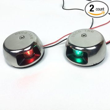 LED Navigation Lights - PontoonBoatTops.com