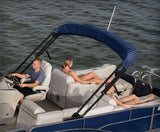 "PWR-ARM II Power Bimini Package 8' or 8'6"" wide, 10' long with Remote & Stern Light - PontoonBoatTops.com"