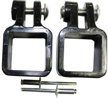 "Plastic Jaw Slide for 1"" SQUARE Tube outside diameter tube - PontoonBoatTops.com"