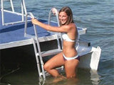 3 Step Traditional Dock or Pontoon Ladder - PontoonBoatTops.com