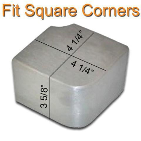 Square Corner Caps for Pontoon Deck - PontoonBoatTops.com