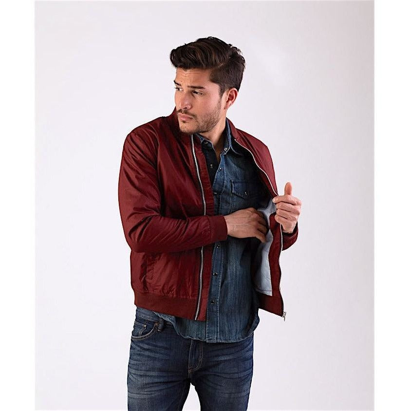 Bordeaux Classic Bomber Jacket-Jackets and Coats-PRIVATE CARTEL