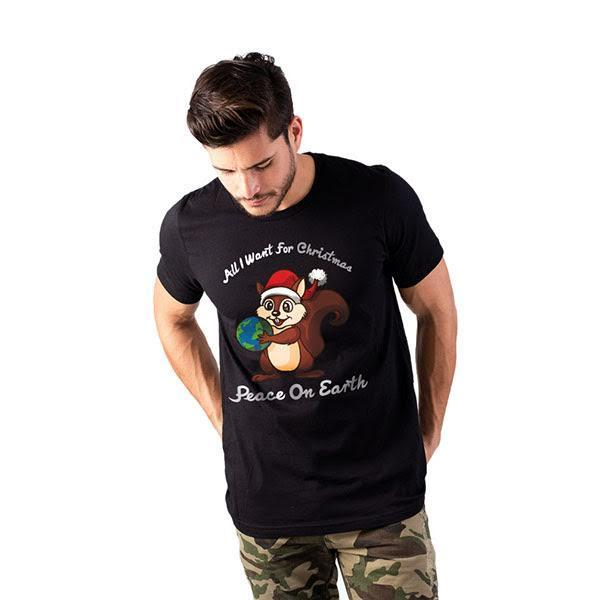 Christmas T-Shirt (Unisex) - Peace On Earth-Tops-PRIVATE CARTEL