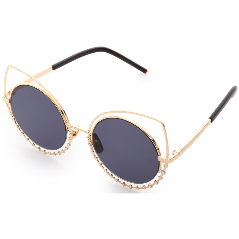 Crystal Embellished Cat Eye Sunglasses-sunglasses-PRIVATE CARTEL