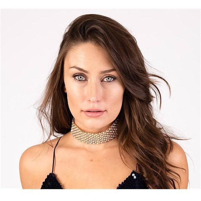 Crystal Embellished Choker-Chokers-PRIVATE CARTEL