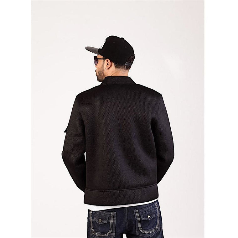 Mesh Bomber Jacket-Jackets and Coats-PRIVATE CARTEL