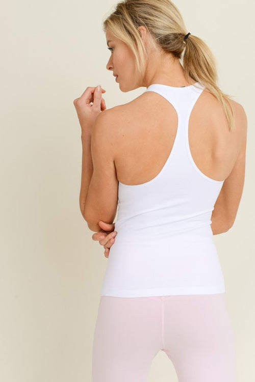 Racerback Workout Tank - White