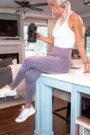 Acid Wash Seamless Leggings - Lilac
