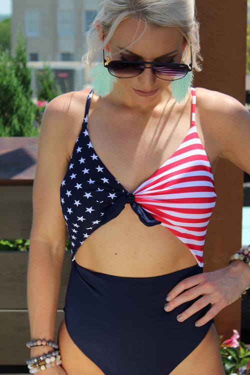 American Flag Swimsuit - 4th Of July Swimsuit - Kendry Collection Boutique