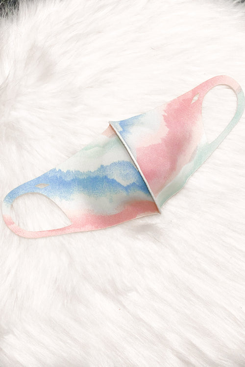 Aqua Tie Dye Mirawave Antibacterial Face Mask- Shop Kendry Collection