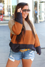 Auby Oversized Color Block Sweater