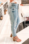 Benny Mid Rise Girlfriend Jeans - Light Wash - Kendry Collection Boutique