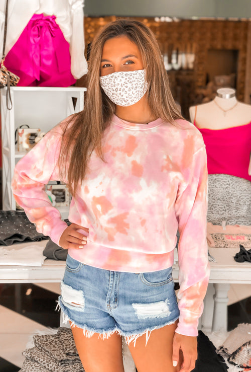 Pink Tie Dye Crewneck Sweatshirt - Kendry Collection Boutique