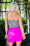 Magenta Pink Asymmetrical Skort - Shop Kendry Collection Boutique