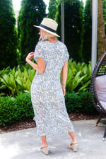 Blue Snakeskin Maxi Dress - Shop Kendry Collection Online Boutique