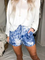 Blue Tie Dye Lounge Shorts - Kendry Collection Boutique