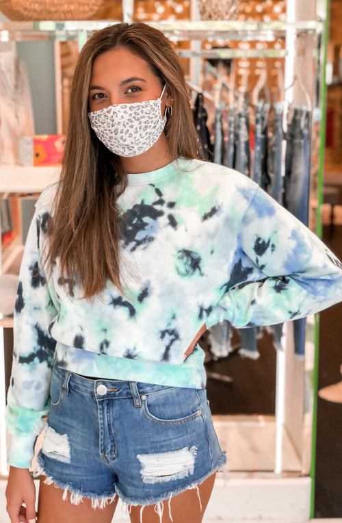 Blue Tie Dye Crewneck Sweatshirt - Shop Kendry Collection Boutique