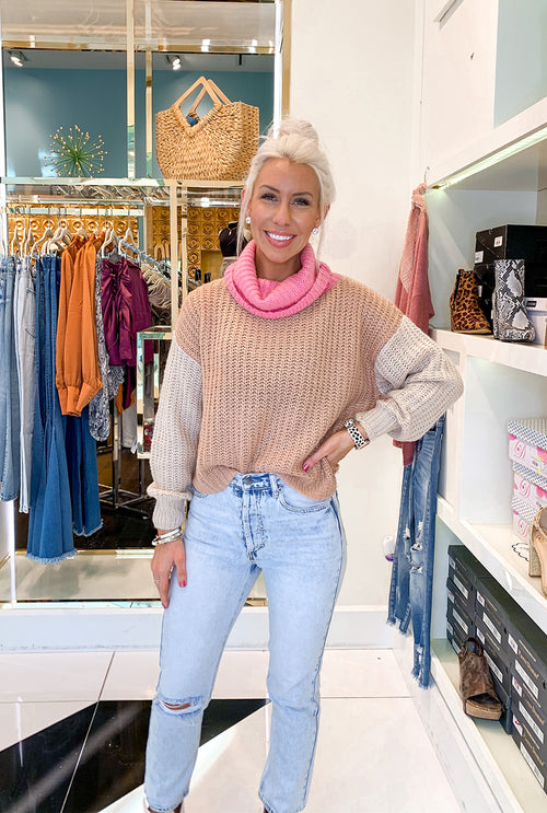 Blush Knit Sweater- Shop Kendry collection boutique online