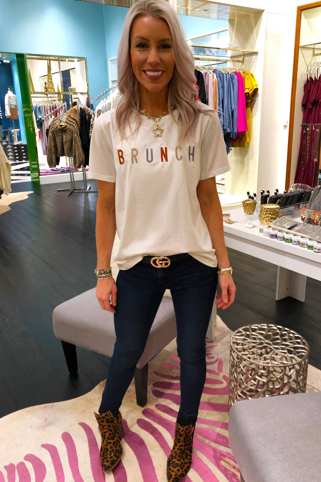 Brunch Embroidered Graphic Tee - Kendry Collection Boutique