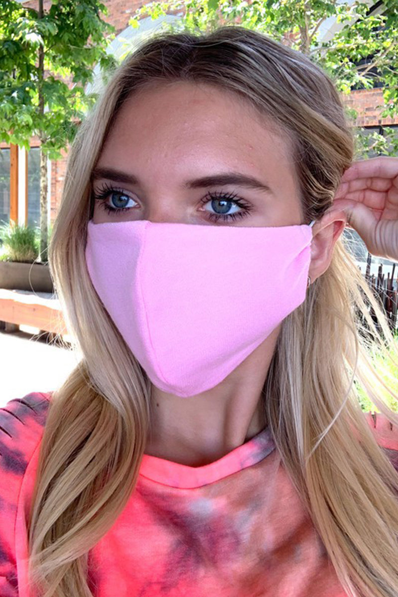 Bubblegum Pink Face Mask - Shop Cute Face Masks Online Now Kendry Collection Boutique
