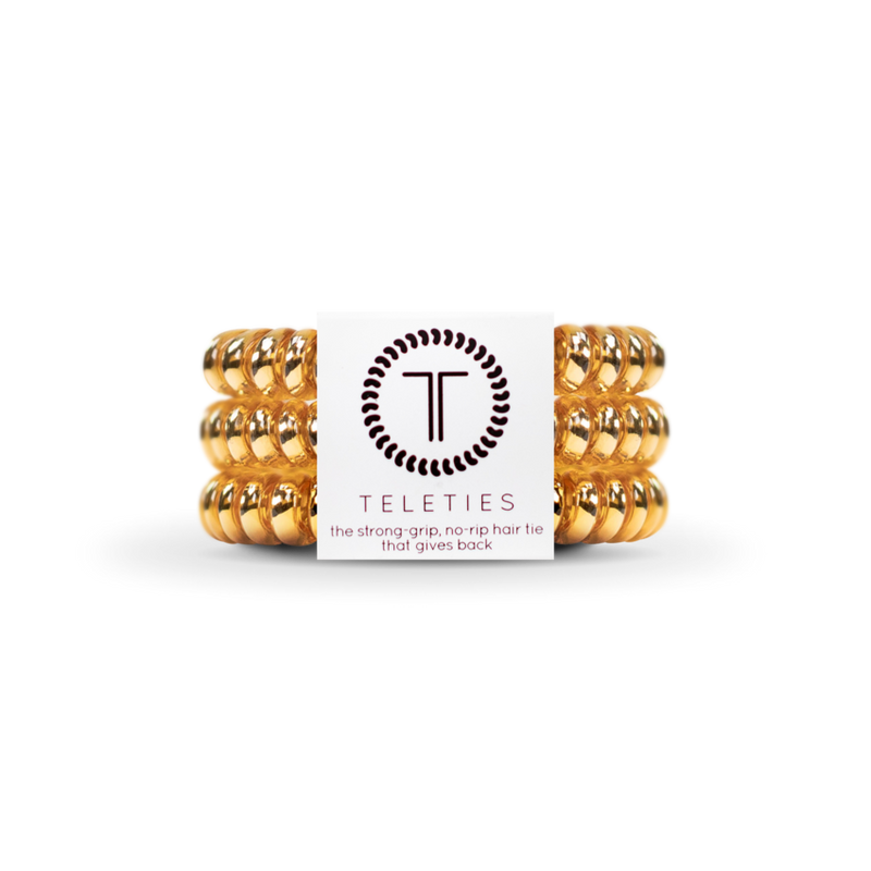 Small Teleties - Gold Champagne - Kendry Collection Boutique