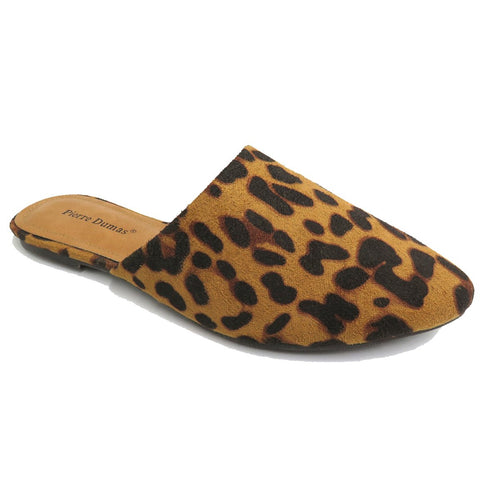Leopard Pointed Toe Flat Mule Slide - Kendry Collection Boutique