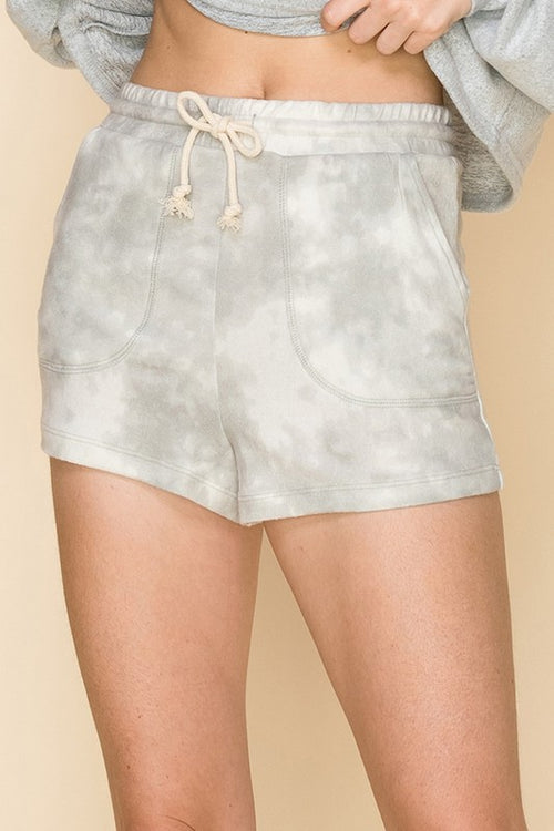Tie Dye Brushed Knit Lounge Shorts - Shop Kendry Collection Boutique